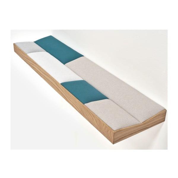 Snug Green, wyściełana półka dębowa 100 cm