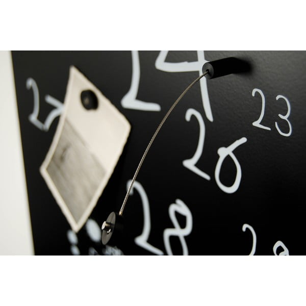 Magnetyczny kalendarz Krok Black, 30x100 cm