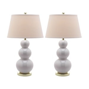 Zestaw 2 lamp stołowych Safavieh Meryl