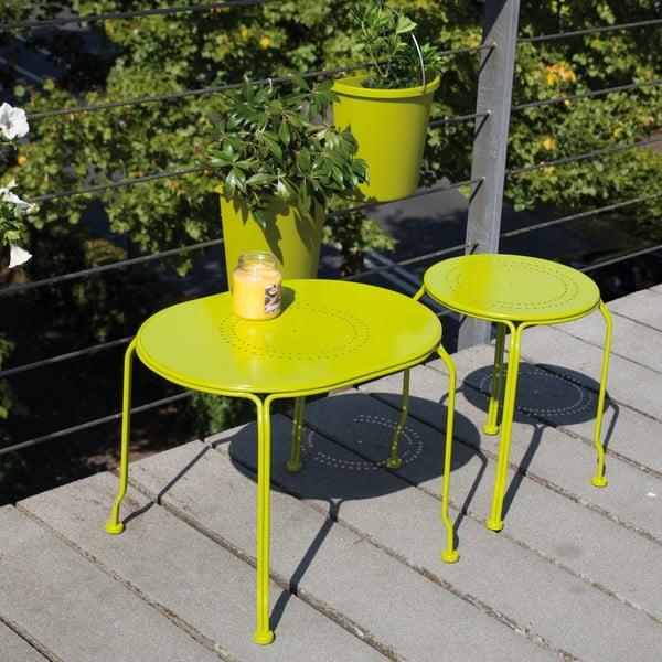 Zielony stolik na balkon Esschert Design Nature, 53x44 cm