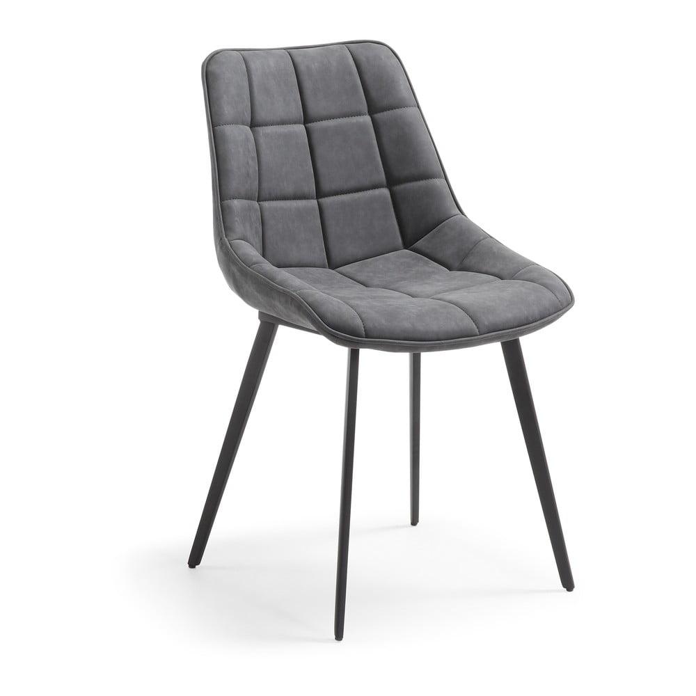 Szare krzesło La Forma Adah