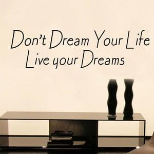 Naklejka dekoracyjna Live Your Dream, 19x60 cm