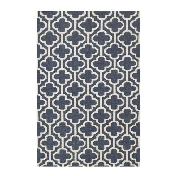 Wełniany dywan Penelope Dark Grey, 140x200 cm
