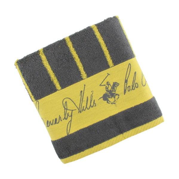 Ręcznik bawełniany BHPC 50x100 cm, żółty w paski