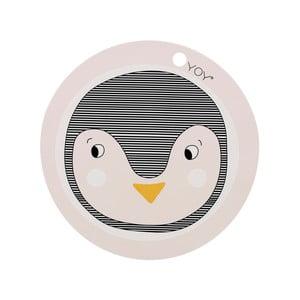 Dziecięca silikonowa mata stołowa OYOY Penguin, ⌀ 39 cm