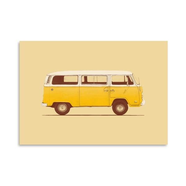 Plakat Yellow Van, 30x42 cm