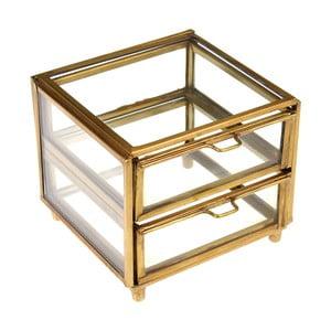 Szklana złota szkatułka na biżuterię Rex London Forint