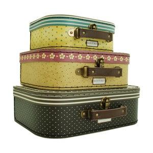 Zestaw 3 walizek ozdobnych Santoro London Gorjuss Nesting