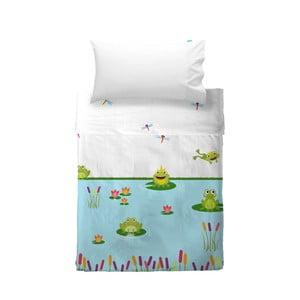 Poszewka na poduszkę i narzuta Mr. Fox Happy Frogs, 100x135 cm