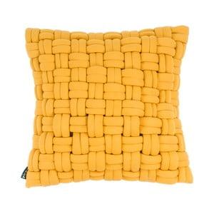 Żółta poduszka ZicZac Clusp, 45x45 cm