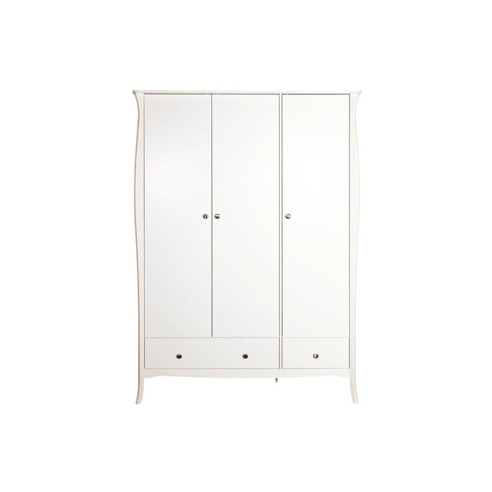 Biała 3-drzwiowa szafa Steens Baroque