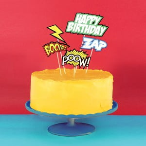Zestaw ozdób na tort Comic