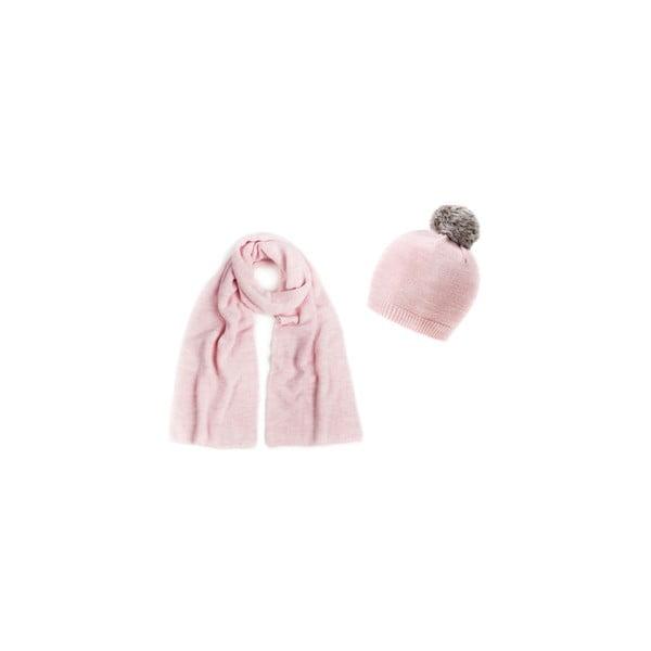 Czapka i szalik Light Pink Pom