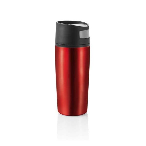 Czerwony kubek termiczny do auta XD Design