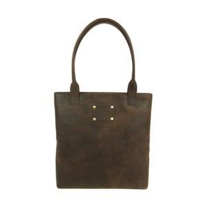 Skórzana torebka Posh Stacey Midi Brown