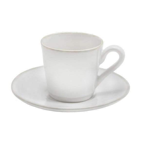 Biała filiżanka ceramiczna ze spodkiem Costa Nova Astoria, 80 ml