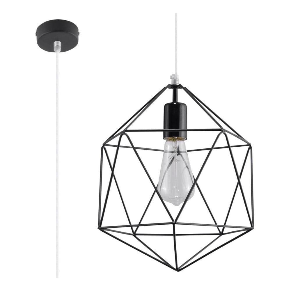 Czarna lampa wisząca Nice Lamps Donato