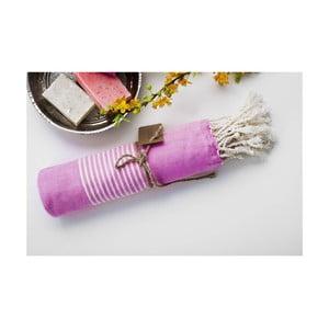 Ręcznik hamam Line Pink, 100x180 cm