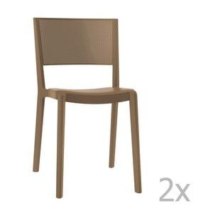 Zestaw 2 brązowych krzeseł ogrodowych Resol spot
