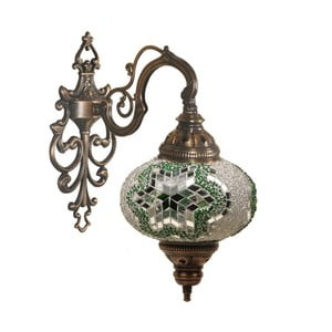 Szklana lampa naścienna Wall XXII, 17 cm