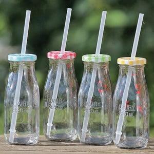 Zestaw 4 butelek ze słomką Zala
