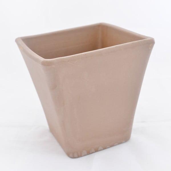Doniczka ceramiczna Liscio 19 cm, kawowa