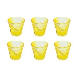 Komplet 6 szklanek Kaleidoskop 115 ml, żółty
