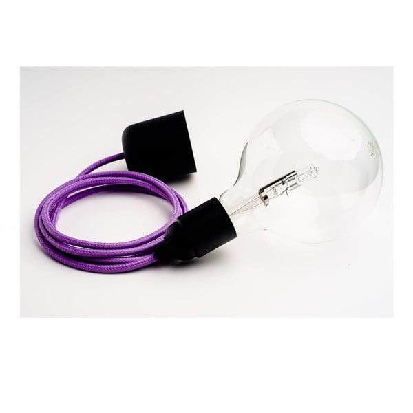 Kolorowy kabel Loft z żarówką, lawenda