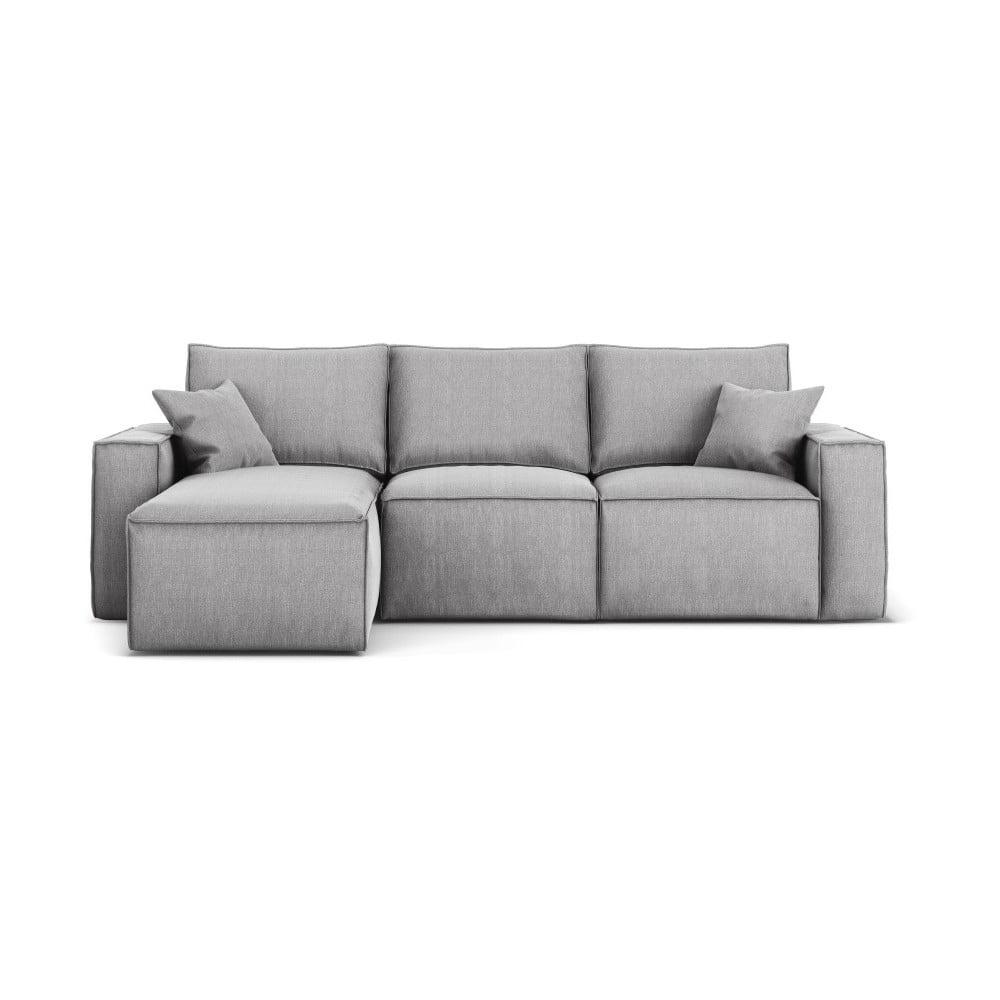 Szara narożna sofa lewostronna Cosmopolitan Design Miami
