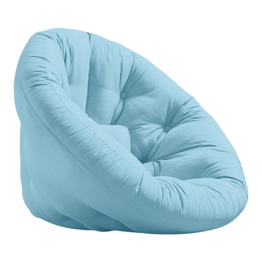 Fotel rozkładany Karup Design Nest Light Blue