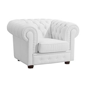 Biały fotel skórzany Max Winzer Bridgeport
