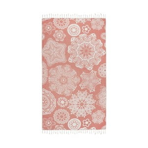 Pomarańczowy ręcznik hammam Kate Louise Isabella, 165x100 cm