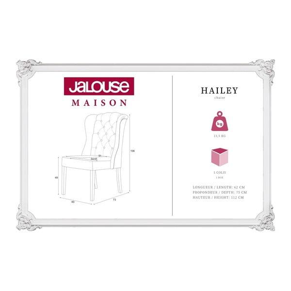 Szaroniebieskie krzesło Jalouse Maison Hailey