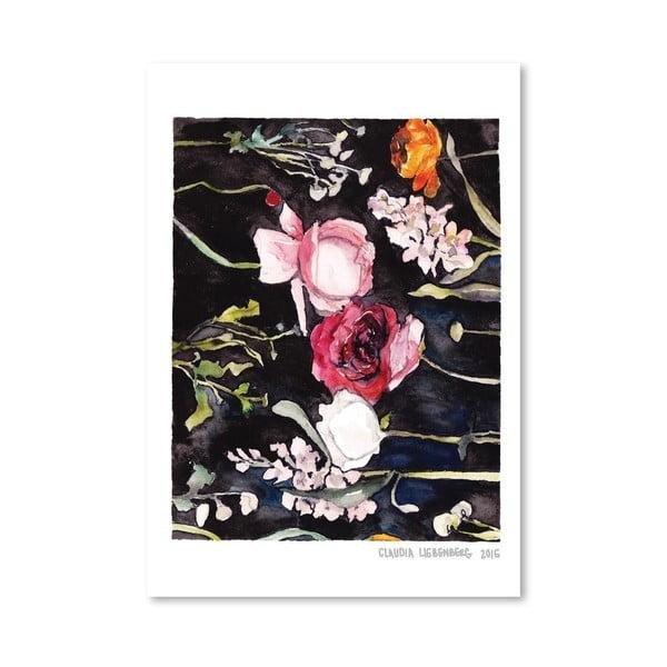 Plakat Blooms on Black II, 30x42 cm