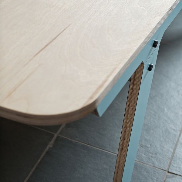 Niebieska ławka rform Slim 01, dł. 165 cm