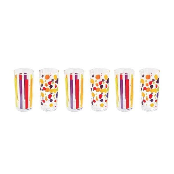 Zestaw 6 szklanek Colorissime