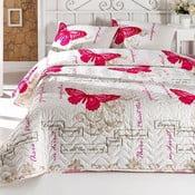 Pikowana narzuta na łóżko i 2 poszewki na poduszki Cocona, 200x220 cm