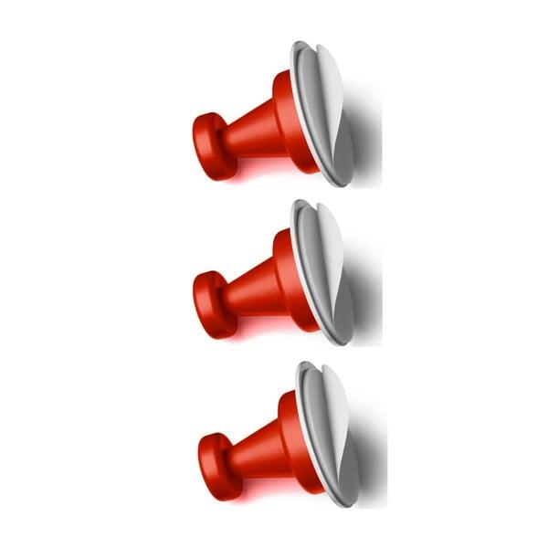 Zestaw 3 czerwonych magnetycznych haczyków Reenbergs Multiple