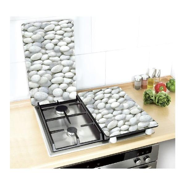 Zestaw 2 szklanych płyt ochronnych na kuchenkę Wenko Pebble