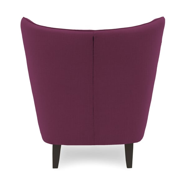 Fioletowy fotel z ciemnymi nogami Vivonita Sandy