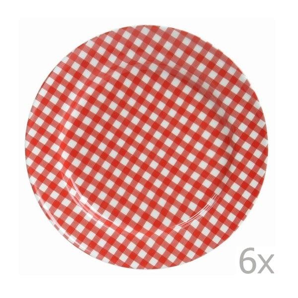 Zestaw 6 talerzy Sarah 17 cm, czerwony