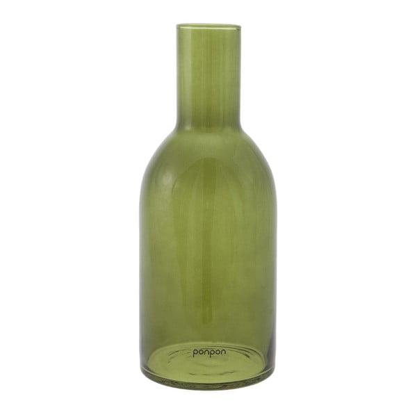 Wazon/świecznik Bottle 30,5 cm, zielony