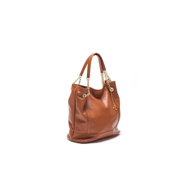 Skórzana torebka Tote 2089 Cognac