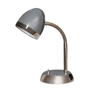 Szara lampa stołowa ETH Harley