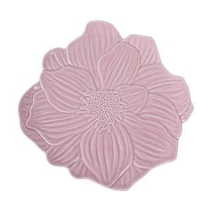 Różowy talerz kamionkowy Côté Table Rosal, ⌀21,5 cm