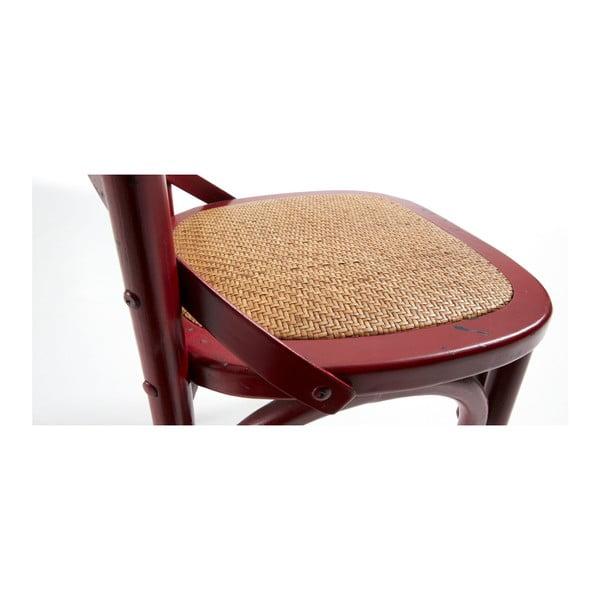 Krzesło Silea, czerwone
