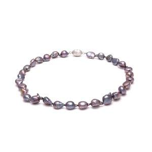 Fioletowy perłowy naszyjnik GemSeller Cardamine