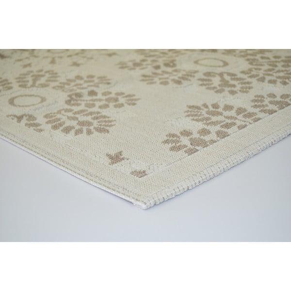 Beżowy wytrzymały dywan Vitaus Penelope, 60x90 cm