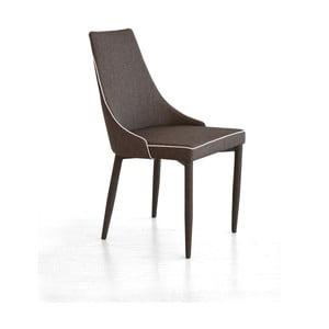 Krzesło Plana, ciemnobrązowe