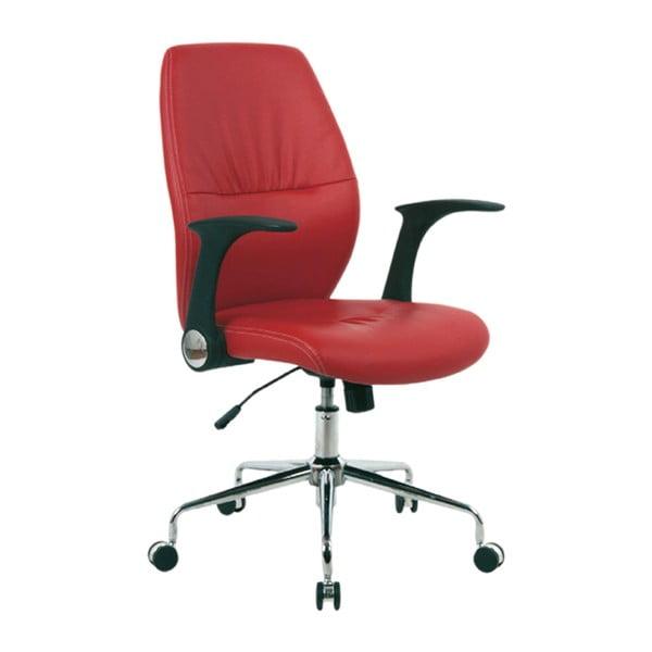 Krzesło biurowe na kółkach Icaro, czerwone